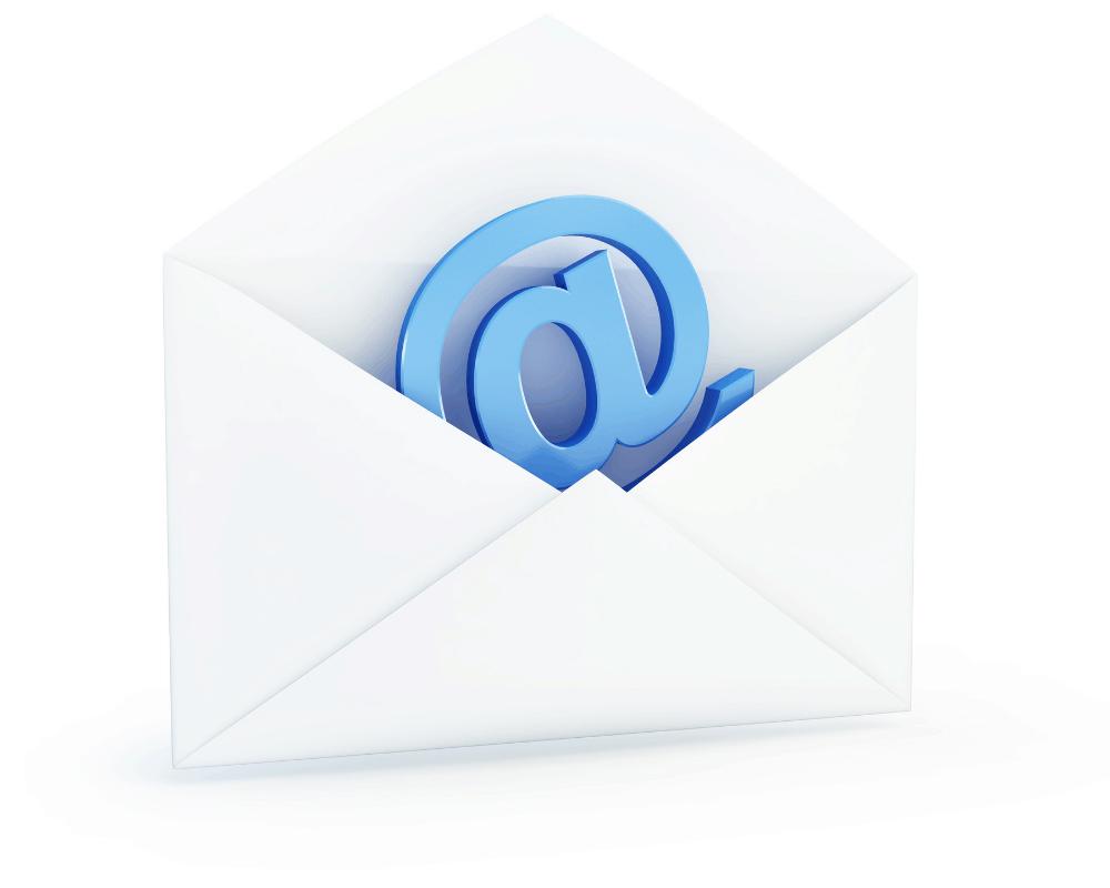 Kuvert med ett snabel-a